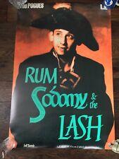 New unused Pogues poster 895x600mm rum sodomy lash shane macgowan punk