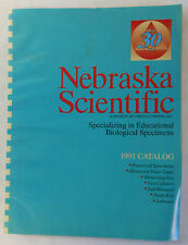 1991 Nebraska Scientific EDUCATIONAL BIOLOGICAL SPECIMENS Catalog