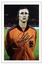 Johan Cruyff Holanda Países bajos autógrafo firmado foto impresión de fútbol