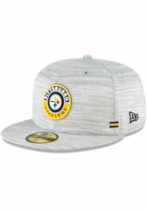 PITTSBURGH STEELERS NFL OFFICIAL SIDELINE NEW ERA 59FIFTY FITTED GRAY HAT NWT