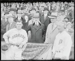 J. Hampton Moore Throwing First Pitch 1933 OLD BASEBALL PHOTO