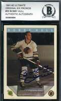 Bobby Hull BAS Beckett Coa Hand Signed 1991 Ultimate Autograph