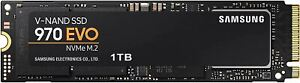 Samsung (MZ-V7E1T0BW) 970 EVO SSD 1TB - M.2 NVMe Interface Internal Solid State