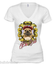 Street Style Women's Graphic Tee T-shirt French Bulldog Frida Rose Headdress LE