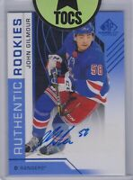John Gilmour 2018-19 SP Game Used Authentic Rookies Autograph New York Rangers