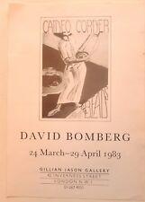 David Bomberg    1983 ART EXHIBITION POSTER