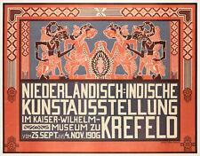 Affiche Originale - Thorn Prikker-Niederländisch-Indische Kunstausstellung 1906