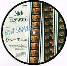 """NICK HEYWARD on a sunday ARISTA 7"""" PICTURE DISC 45rpm_1983 near mint"""
