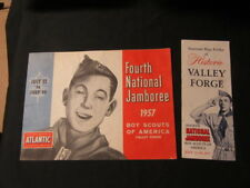 1957 National Jamboree Paper Lot -- Journals, Pictorial Book, Map, Letters, etc.