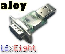 aJoy USB Retro Joystick Adapter für Atari Amiga Commodore Sega uvm!