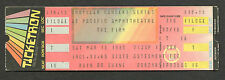 1985 The Firm full concert ticket Costa Mesa Jimmy Page Led Zeppelin Radioactive