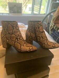 Sportsgirl Faux Snakeskin Boots 40