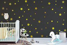 Metallic Gold Star Wall Decals - Retro Stars Vinyl Wall Decals, Confetti Stars