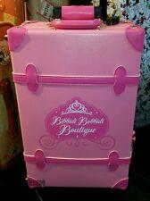 "NEW Disney BIBBIDI BOBBIDI BOUTIQUE Cinderella Pink 21"" Luggage Suitcase Trunk!"
