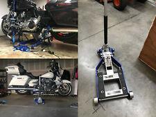 1500 Lb Capacity Atv Motorcycle Lift Jack Pump Hydraulic Low Profile Nylon