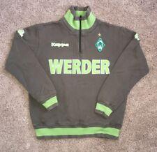 Vintage Men's KAPPA Werder Bremen 1/4 Zip Green Long Sleeve Jacket Logo SZ M