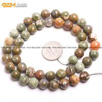 "Round Natural Multi Agate Onyx Gemstone Jewelry Making Loose Beads Strand 15"""