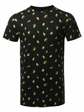 FashionOutfit Men's Avocado Print Crew Neck Short Sleeve Tee - Made In USA