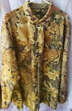 Cabela's Long Sleeve Fleece/Polyester Button Camo Shirt - Men's 2XL