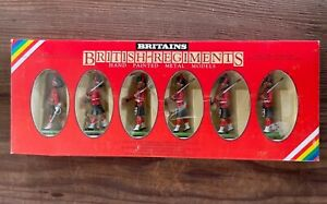 Boxed Britains Toy Soldiers - 7235 Black Watch - 6 Metal Figures