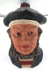 .RARE 1800's BERNARD BLOCH LARGE POTTERY TOBACCO JAR. NICE CONDITION.