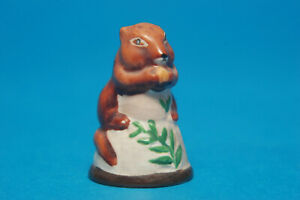 Franklin Friends of The Forest 1982 Collection 'Chipmunk' China Thimble B/162
