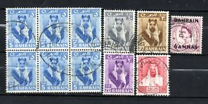 Bahrain mixed era mixed collection,stamps as per scan(10332)