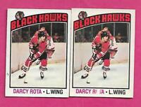 1976-77 OPC # 47 HAWKS DARCY ROTA VARIATION  CARD  (INV# A8877)