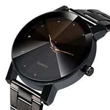 Luxurious Woman Man Stainless Steel Analog Quartz Dial Wrist Watch Sport Gift