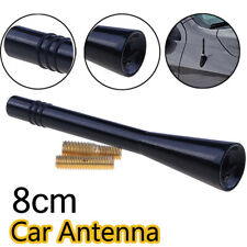 Black Universal 8CM Car Short Stubby Antenna Aerial AM/FM Radio Mast with Screws