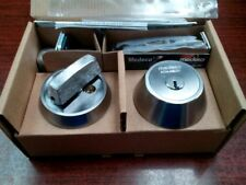 NEW Medeco M3  SINGLE CYLINDER DEADBOLT SILVER WITH 4 KEYS + DUPLICATION CARD