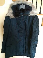 Brand New Genuine Alpha AF N3B Snorkel Parka Made in USA Navy Blue Large