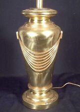 MID CENTURY MODERN ART DECO CURTAIN SWAG BRASS LAMP