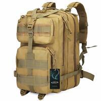 40L Men Military Tactical Backpack Outdoor Rucksack Camping Tan Bag Gyming Molle