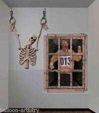 Decoración de pared gigante Dungeon Espeluznantes Halloween Esqueleto Escena Setter Calcomanía