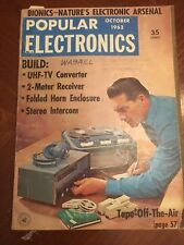 Vintage Popular Electronics Magazine October 1962 Ads Tape off the Air