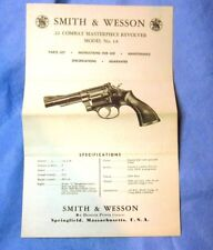 Smith & Wesson S&W Model 18 K Frame Original Instruction Parts Manual 1967