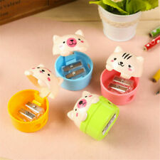 1PC 3D Plastic Kawaii Cartoon Cat School Stationery Cutter Pencil Sharpener D7A2