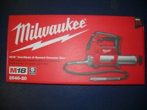 Milwaukee 2646-20 M18 Cordless Grease Gun 2-Speed 18V 10,000 PSI NEW