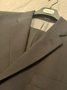 Calvin Klein Men Suit Black 44 Regular Jacket 36x30 Pants