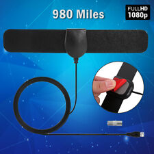 980 miles TV Antenna Indoor Outdoor HDTV Free HD Digital Channels 4K 1080P