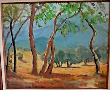 Landscape Oil Painting Early Listed California Artist Grace Athol Seymour