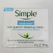 3x Simple Water Boost Skin Quench Sleeping Cream 1.7 fl oz Sensitive Skin