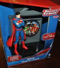 TARGET EXCLUSIVE SUPERMAN JUSTICE LEAGUE BANK ALARM CLOCK CUSTOM MOLDED FIGURE