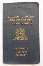 Greece 1972 Travel Document Passport Greek 2 Years Old Girl Yugoslavia Revenues