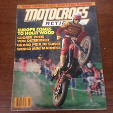 MOTOCROSS ACTION AUGUST 1978 MAICO DG CR125M-RM80-YZ80-GP MX=Vintage Motocross