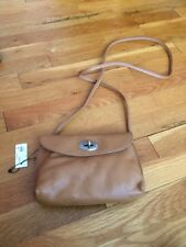 New Fossil Women's Camel Crossbody Genuine Leather Purse Handbag ~ NWT
