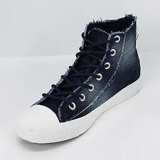 Scarpe Uomo Alte Sneakers Casual Stivaletto Tela Blu Denim Jeans Vintage Moda