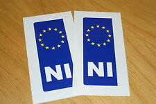 N Ireland Euro Number Plate Stickers (pair)
