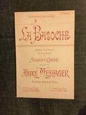 Messager La Basoche partition chant-piano opéra-comique Choudens édition Baryton